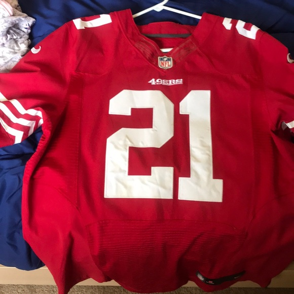 hot sale online f7397 2d250 49ers home jersey Frank gore size 44 Nike On field